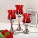 iHouse 1915 Cam Şamdan-Kırmızı
