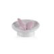 Porio M66-119 - Kelebekli Beyaz Süs Tabağı 13 Cm