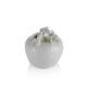 Porio M66-157 - Beyaz Elma Şekilli Kumbara 14 Cm