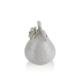 Porio M66-154 - Beyaz Armut Şekilli Kumbara 16 Cm