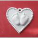 Yıldız Hobi Kalpli Bebek Ayağı Silikon Kokulu Taş ve Sabun Kalıbı