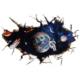 Modakedi Uzay Astronot Gezegen Figürlü 3 Boyutlu Duvar Stickerı