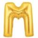 Partistok M Harf Folyo Balon Altın