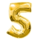 Partistok 5 Rakamlı Folyo Balon Gold