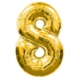 Partistok 8 Rakamlı Folyo Balon Gold