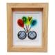 Cool Glass Design Balonlu Aşıklar Cam Duvar Süsü 16 x 20 cm El Yapımı