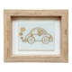 Cool Glass Design Altın Vosvos Cam Duvar Süsü 16 x 20 cm El Yapımı
