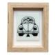 Cool Glass Design Beyaz Vosvos Cam Duvar Süsü 16 x 20 cm El Yapımı