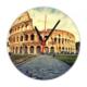 Fotografyabaskı Büyük Kolezyum Roma 20 Cm Yuvarlak Hdf Saat Baskı