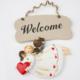 Welcome Melek Kapı Ve Duvar Süsü\ Yılbaşı Süsü 11X14 LN876-2