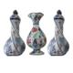 Oğuz Çini 2 Adet Kare Vazo 1 Adet Vazo Seti