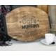 Luckywoodstore Kayın Saplı Elips Tepsi (Cafe Muffıns)