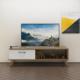 Eyibil Mobilya Kuzey 120 cm Tv Sehpası Tv Ünitesi Gövde Ceviz Kapak Beyaz