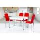 Gül Masa Mutfak Cam Masa Takımı 4 Adet İkon Sandalye Seti Hesaplı Ekonomik