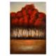 Evstil Laklı Kırmızı Ağaç Yağlı Boya Tablo