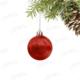 Kikajoy Kırmızı Renk Cici Top Yılbaşı Ağaç Süsü 7cm - 6 adet