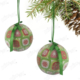 Kikajoy Yeşil Desenli Yılbaşı Ağaç Süsü - 6 adet