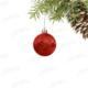 Kikajoy Kırmızı Renk Cici Top Yılbaşı Ağaç Süsü 6cm - 6 adet
