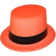 Pandoli Turuncu Fosforlu Siyah Kemerli Şapka