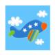Euro Flora Uçak Temalı Mavi Kanvas Tablo 20X20 Cm