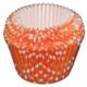 Pandoli Beyaz Puantiyeli Turuncu Muffin Kalıbı 100 Adet