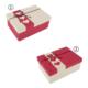 Euro Flora Kalp Desenli Kırmızı Beyaz Kutu 3'lü Set 22X16X9 / 20X14X8 / 17X12X6,5 Cm