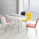 Evinizinmobilyasi İmalattan Satış Açılır Cam Mutfak Masası Masa Sandalye Şal Desenli(4 Sandalyeli)