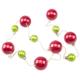 Kikajoy Kırmızı ve Yeşil Renk Sıralı Zincirli Top Ağaç Süsü - 1 adet