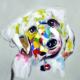Sevimli Köpek 70x70 Yağlı Boya Tablo %100 El Yapımı