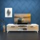 Eyibil Mobilya Güneş 180 cm Gövde Beyaz Kapak Meşe Tv Sehpası Tv Ünitesi