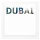 decArtHOME Dubai Anı Çerçevesi (23 x 23 cm Beyaz)