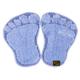 Panda Ayağı Kaymaz Taban Paspas-Mavi-1 Adet Alana 1 Adet Hediye