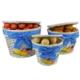 Hasır 3 Lü Patates-Soğan Sepeti - Mavi