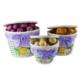 Hasır 3 Lü Patates-Soğan Sepeti - Lila