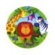 HKostüm Jungle Animals (Hayvan Temalı) Kağıt Tabak