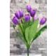 Yapay Çiçek Deposu Yapay Çiçek Lale Demeti 9 Dallı