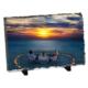 Fotografyabaski Romantik Sahil Akşamı Dikdörtgen Taş Baskı 15X20 Cm