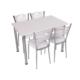 Osmanlı Mobilya Mutfak Masa Takımı Masa + 6 Sandalye Beyaz