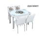 Osmanlı Mobilya Osmanlı Mutfak Masa Takımı Çiçek Demeti Desen Masa + 4 Sandalye