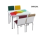 Osmanlı Mobilya Osmanlı Mutfak Masa Takımı Sarı Şal Desen Masa + 6 Sandalye