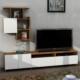 Dekorister Mariposa Tv Ünitesi Ceviz-Beyaz