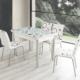Evinizinmobilyasi İmalattan Satış Açılır Cam Mutfak Masası Masa Sandalye Bordo Halha Desenli(6 Sandalyeli)