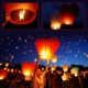Cix Gökyüzüne Bırakılan Dilek Feneri Kırmızı Renk 1 Adet