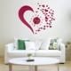 Helen's Home Kalp Tasarımlı Duvara Yapışan Saat