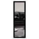 Boy Aynası Düz Çerçeve Siyah