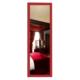 Boy Aynası Düz Çerçeve Kırmızı