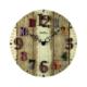 Ahşap Vintage Duvar Saati 50X50 Cm Yuvarlak