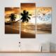 Tabloshop - Palm Beach Tablo Saat - 81X60cm - Çerçeve Hediye