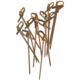 Elitparti Bambu Kürdan Düğümlü 9 cm (50 Adet)
