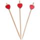 Elitparti Bambu Kürdan Kırmızı Kalp 10 Cm (50 Adet)